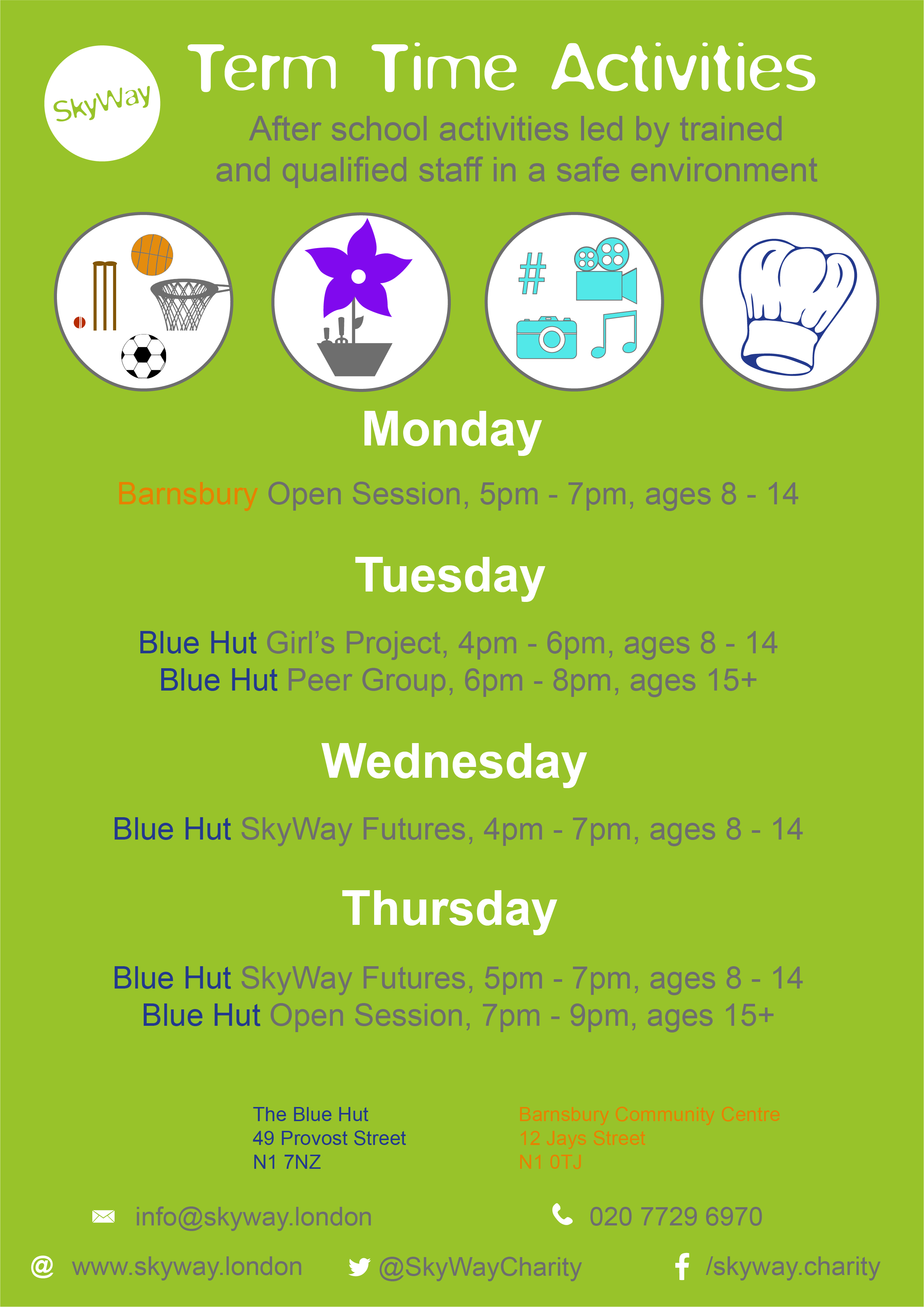 Term Time Activities (April 2017)