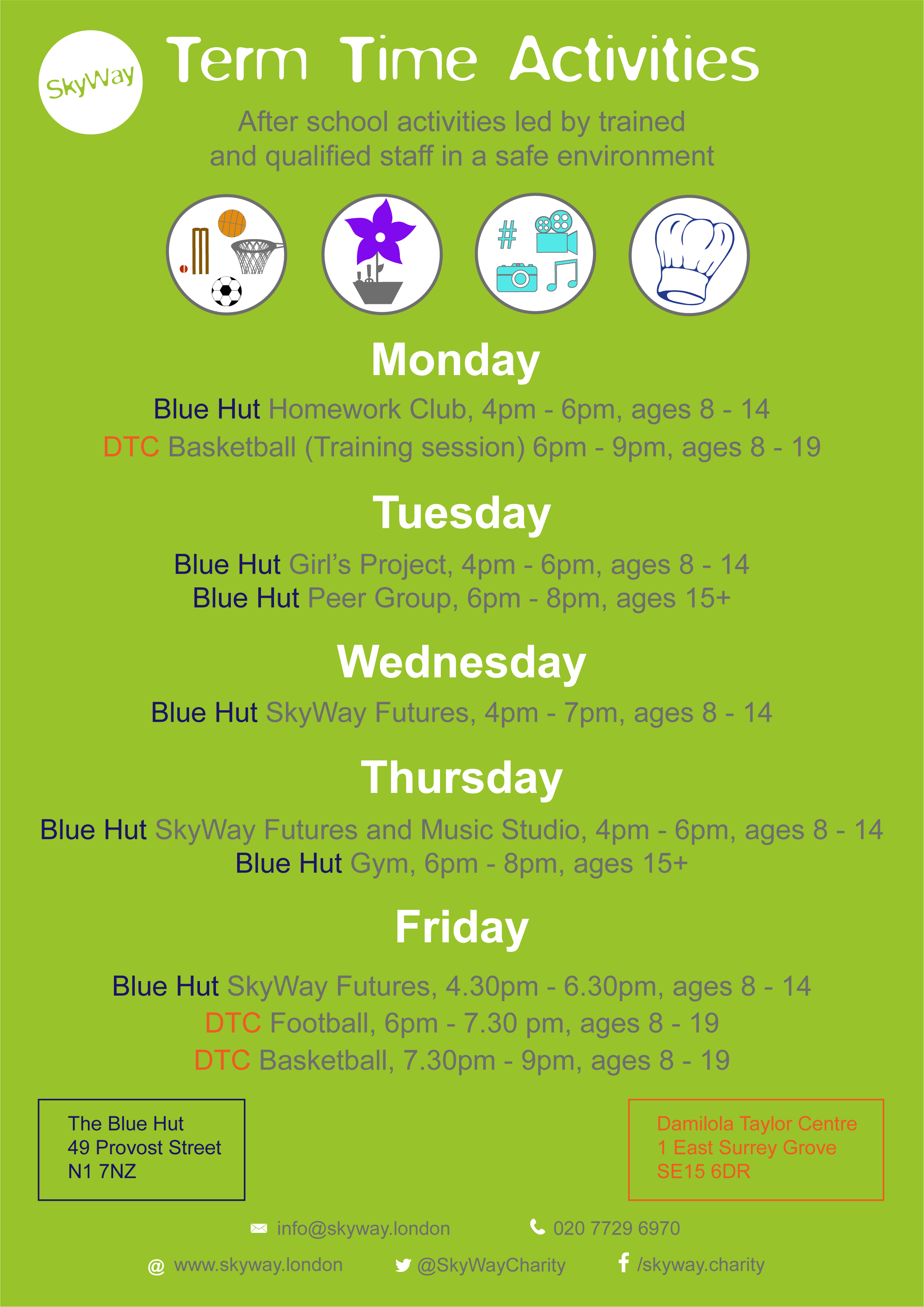 Term Time Activities (March 2018)