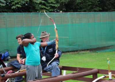 'I've never done archery before and it was hard at first but by the end I was nearly hitting the bullseye!'
