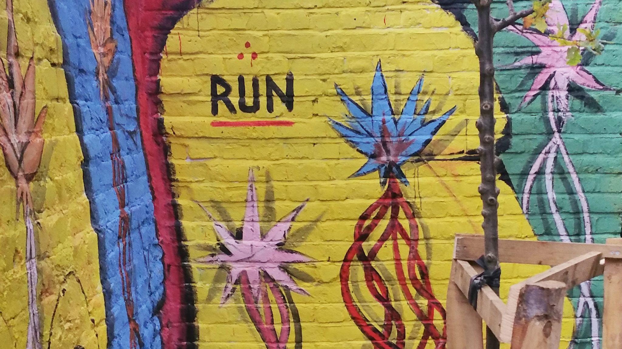 RUN graffitti