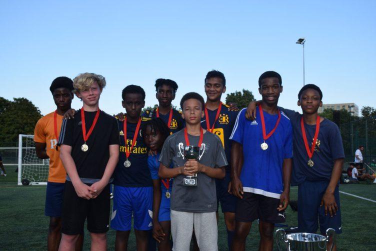 under-14s football winners