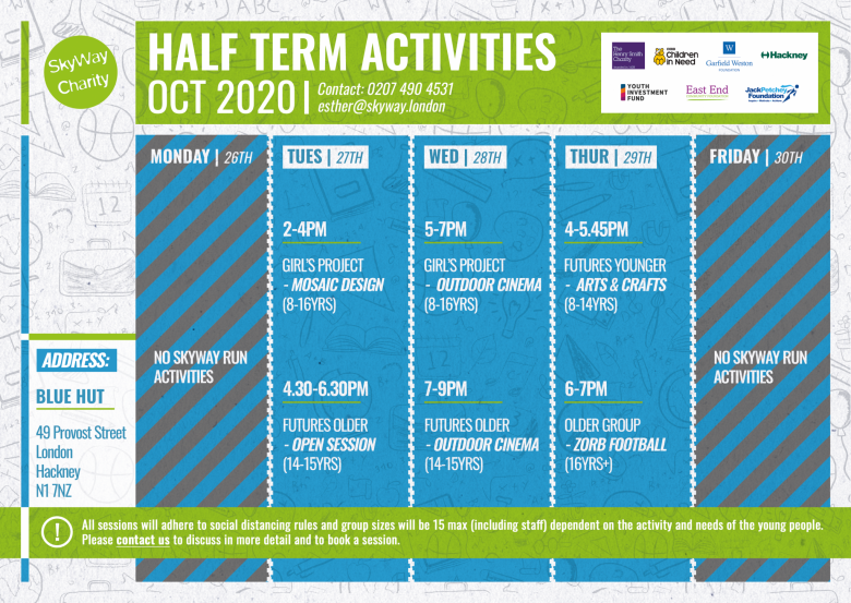 Half Term Activities 2020