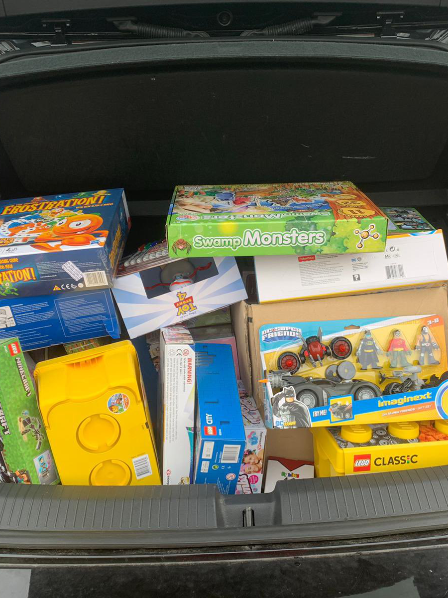 More presents in the car boot