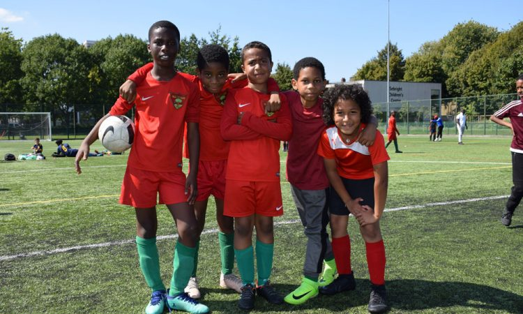 portrait of some of the young footballers