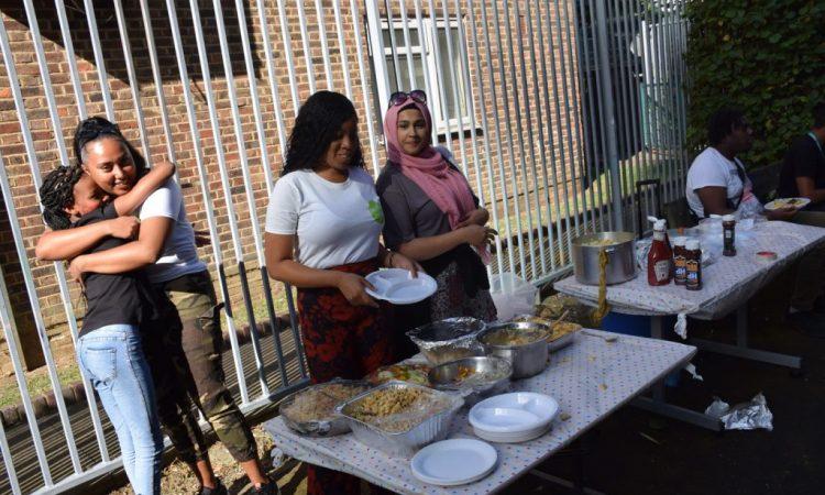 Preparing the food