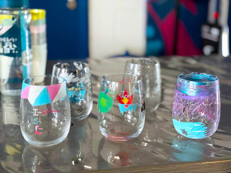 Glass art created by young people